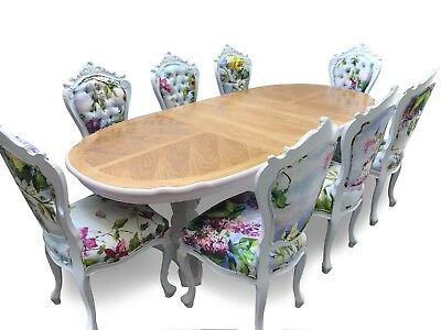 Exquisite Art Deco Style Oak Style Dining Table Pro French Polished And Painted