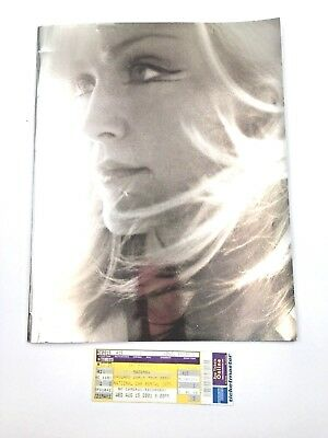 Madonna Drowned World 2001 Concert Tour Souvenir Program with Concert Ticket