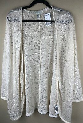 NWT Forever 21 Plus Knit Top Cream Cardigan - 3X