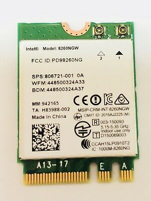Genuine ASUS GL502V Intel Dual Band Wireless /Bluetooth Card 8260NGW
