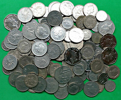 Face Value Lot £16.40 Great Britain British Coins All Spendable w/ Peter Rabbit