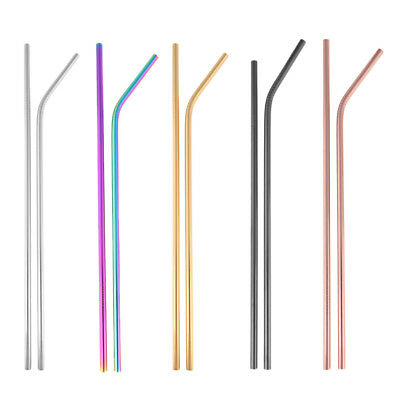 Reusable Stainless Steel Drinking Straws Beverage Sucker Suction Pipe Tube