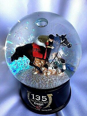 Kentucky Derby 135 Snow/Water Globe-Churchill Downs 2009-Equestrian-Musical