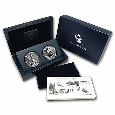 2013 US Mint American Eagle West Point Two-Coin Silver Set w/ Box & COA S40 MINT