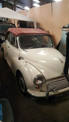 Morris Minor 1000 factory Convertible 1961 moggy soft top