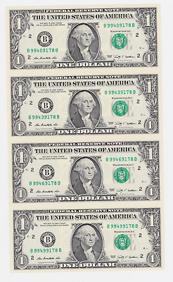 USA ,$ 1, 2009, LEGAL TENDER .4 PCS uncut sheet ,WITH FOLDER ,CERTIFICATE, UNC