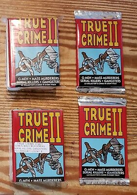 2-Eclipse 1992 True Crime Series II sets( #111-220)And 2 unopened packs(all mint
