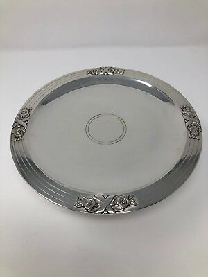 """Tiffany 22803 Sterling Silver Tazza / Pedestal Cake Stand Plate 8 5/8"""""""