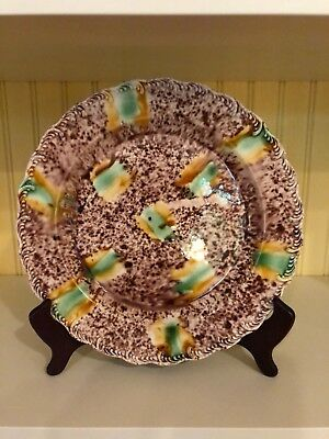 Listing ends 10/20/18!!  ANTIQUE WHIELDON PLATE--18thC. STAFFORDSHIRE- 9 1/4""