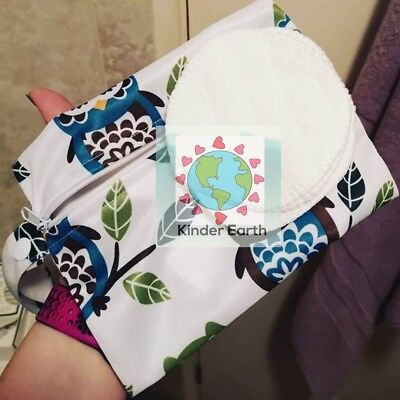 Reusable Make Up Removal Pads Set Wipes - 100% Cotton Rounds - Zero Waste Eco UK