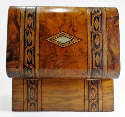 Early-Mid 19Th C English Regency Inlaid Burled Walnut Traveling Writing Box