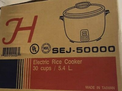 Rice Cooker / Warmer | Electric | 30 Cups | Nsf & Ul Listed |  Sej50000
