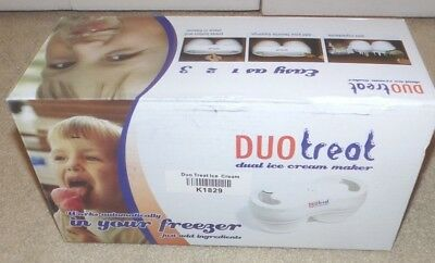 Duo Treat Dual Ice Cream Maker Model DT01 (Brand New in Box)
