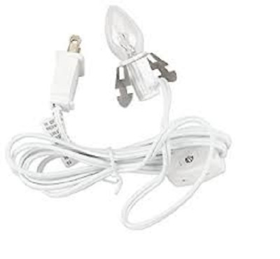 Darice 6402 single light,cord,butterfly clip socket switch,6' White 1 to 24 PCS