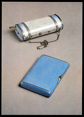Karl Faberge' Russian Imperial Cigarette case and travel bag Postcard