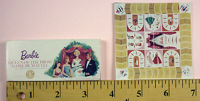 1960s QUEEN OF THE PROM GAME - MINIATURE BARBIE ITEM BY REBECCA