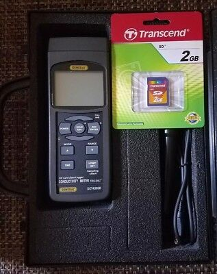 General Tools Data Logging Conductivity Meter-Excel Format SD Card-DCT430SD-NEW