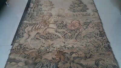 "Antique 19c Aubusson French style  Tapestry siz 60""x48 cm152x122 Beautiful real"
