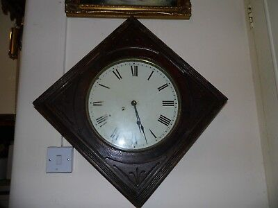 Antique  Square Wall Clock with Pendulum