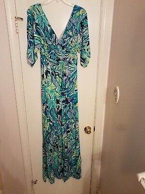 5bcd1515fb1d9a Lilly Pulitzer Style: Parigi Maxi dress- armadilly dally- size M- new with