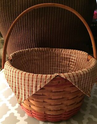 1999 Longaberger Homestead Apple Basket with Liner and Protector