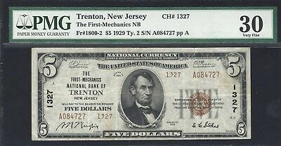 1929 Ty2 First-Mechanics NB of Trenton, NJ Occupational Title note in  PMG30!