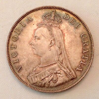 - 1889 Great Britain Victoria Jubilee Head Double Florin Uncirculated Unc