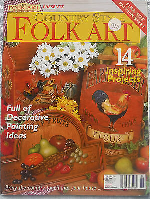 FOLK ART & DECORATIVE PAINTING Magazine Vol 9 No 11 COUNTRY ** Craft Cleanout **