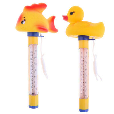 2Pcs New Floating Pond Thermometer Swimming Pool Temperature Monitor