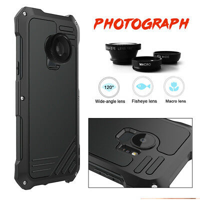 For Samsung S7 S9+ Metal Aluminum Case Cover With Fisheye Wide Angle Macro Lens