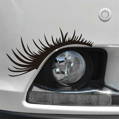 2x Funny Eyelashes Light Eyebrow Car Stickers Body Decals Motorcycle Sticker