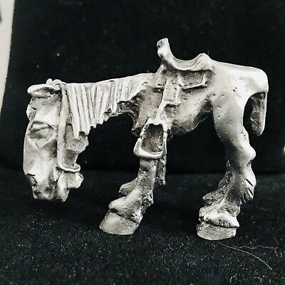 Pewter Silver Donkey Horse Funny Lazy Cowboy Saddle Highly Detailed Figurine