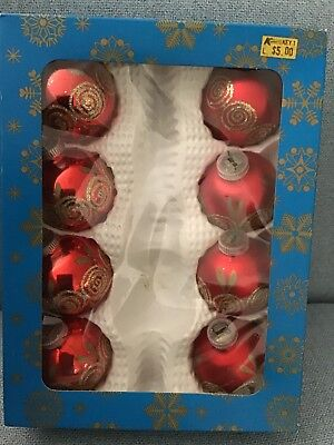 vintage 70's christmas  Glass Bauble decorations