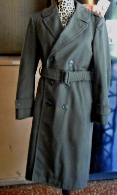Vintage Men's Army Trench Coat Lined 38 Long