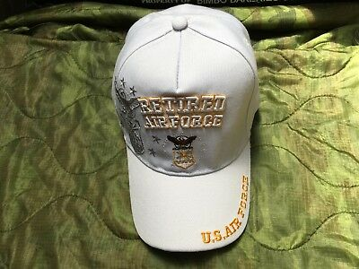 Us Air Force Retired White Hat