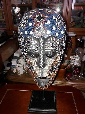 African Artistic  Tribal Mask on Stand
