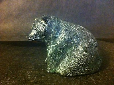 Vintage Bear Cub By Wolf Sculptures Original Figurine Sculpture Cast Art Canada