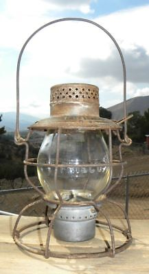 FRISCO RAILROAD LANTERN – Clear Cast FRISCO Lantern Globe