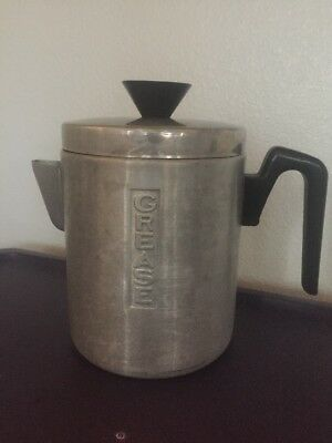 Vintage Aluminum Grease Can Teapot Coffee Pot Shaped