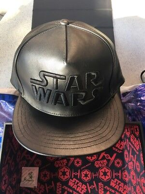 Star Wars With Dark Side Leather Cap Hat Disney Limited Release Factory Sealed