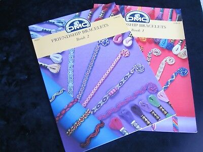 2 DMC Friendship Bracelets Pattern sheets with full instructions P5056 & P5057