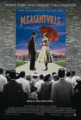 Pleasantville Tobey Maguire Reese Witherspoon Original 27x40 Movie Poster 1998