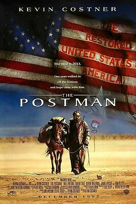 The Postman Kevin Costner Original Double Sided 27x40 Movie Poster 1997