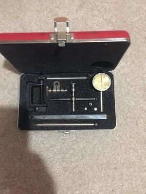 Set Starrett 196 Universal Dial Test Indicator With Case