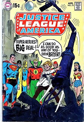 Justice League Of America  #73 1St Silver Age App Earth 2 Golden Age Superman-Nr