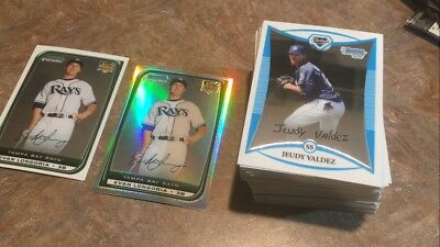 2008 Bowman chrome lot f Box. All cards with Evan Longoria Rookie card refractor