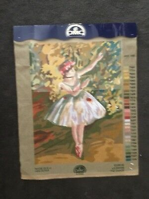 """DMC Tapestry Canvas ONLY - """"The Dance"""" ballerina"""