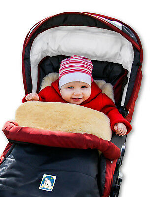 Eisbärchen Lammfell-Fussack for Pushchairs or Buggy Real Lambskin
