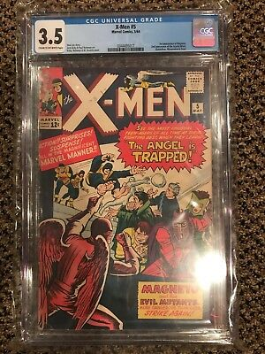 CGC X-Men Comic Lot - #5 (3.5), 8 (3.5), 10 (4.5), 95 (5.0), 98 (5.5), 100 (8.0)
