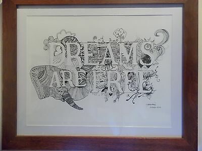 Ink Drawing - Dreams Are Free